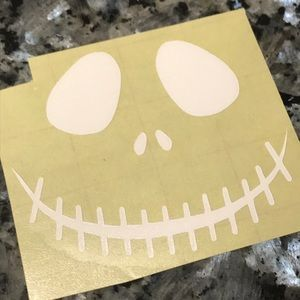"""Other - 2.5"""" white Jack Skellington Face Decal"""